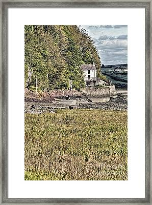 Dylan Thomas Boathouse At Laugharne 2 Framed Print by Steve Purnell