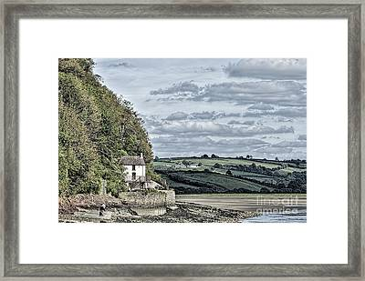 Dylan Thomas Boathouse At Laugharne Framed Print by Steve Purnell