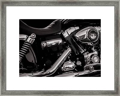 Dyna Super Glide Custom Framed Print by Bob Orsillo
