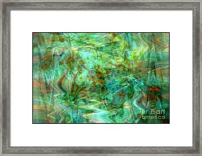 Dynamic Abstract Art Framed Print by Carol Groenen