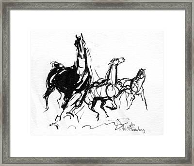 Dynamic And Wild Framed Print