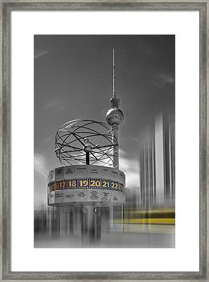 Dynamic-art Berlin City-centre Framed Print by Melanie Viola