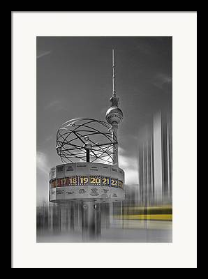 Tram Digital Art Framed Prints