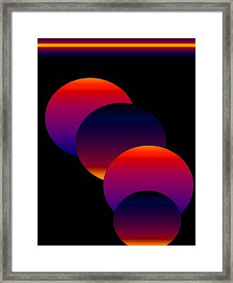 Framed Print featuring the digital art Dynamic Circles by Gayle Price Thomas