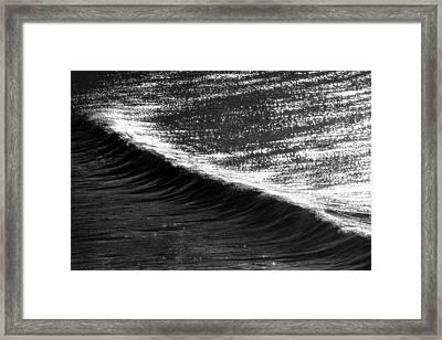 Dynamic Curve Framed Print by Sean Davey