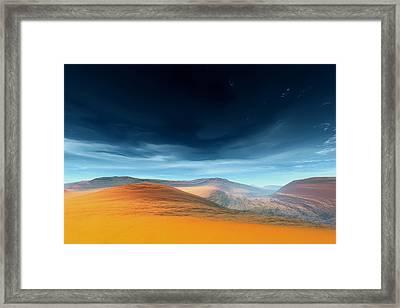 Dynamic Desert Framed Print by Jean Paul Thierevere