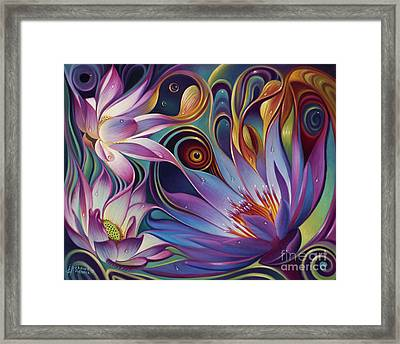Dynamic Floral Fantasy Framed Print