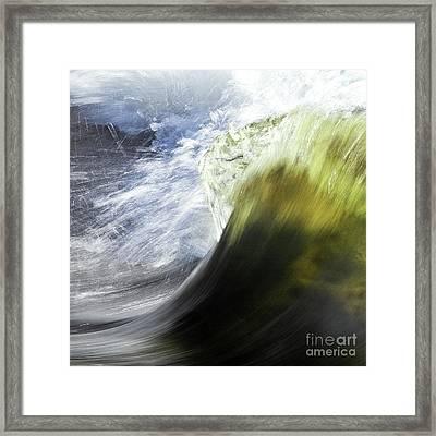 Dynamic River Wave Framed Print by Heiko Koehrer-Wagner