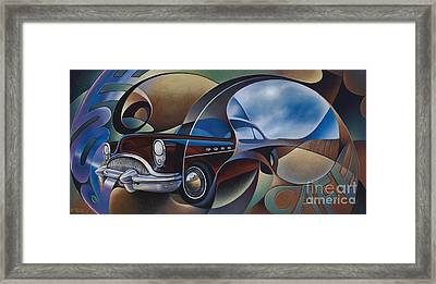 Dynamic Route 66 Framed Print by Ricardo Chavez-Mendez
