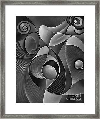 Dynamic Series 22-black And White Framed Print