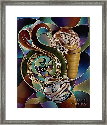 Dynamic Still I Framed Print by Ricardo Chavez-Mendez