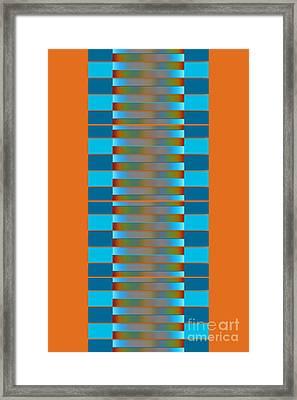 Framed Print featuring the digital art Dynamics Fete 1b by Darla Wood