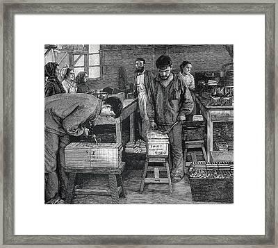 Dynamite Workers Framed Print