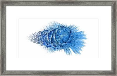 Dynamo-blue Framed Print by Doug Morgan