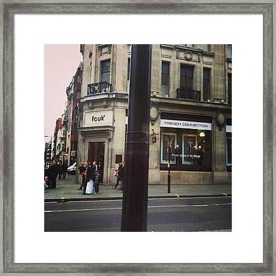 Dyslexic London Framed Print by Elvina Zatorsky