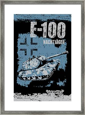 E-100 Nachtjager Framed Print by Philip Arena