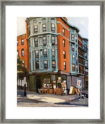 E And W Broadway Framed Print by Deb Putnam