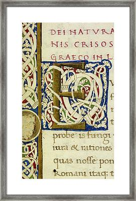 E From A Life Of Christ Manuscript Framed Print