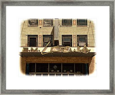 E M Loews Theater Framed Print by Mike McCool