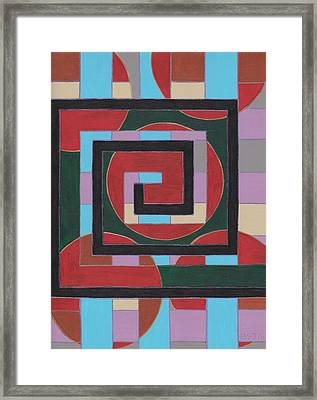 E Squared Framed Print by Barbara St Jean