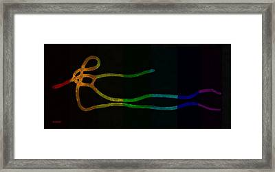 E Strain Rainbow Framed Print by Rob Hans