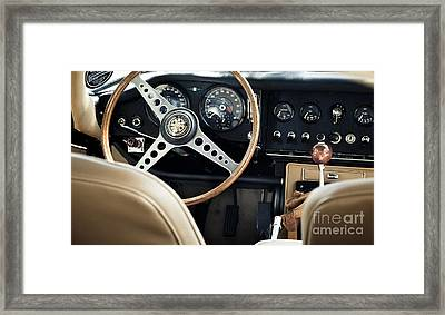 E Type Jag - Interior Framed Print