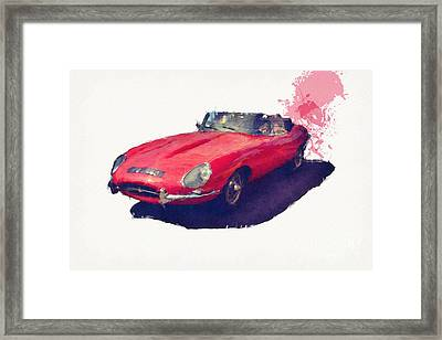 E Type Framed Print