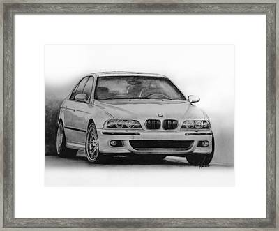 E39 M5 Framed Print by Indaguis Montoto