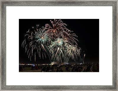 Eaa Fireworks - 2013 Framed Print