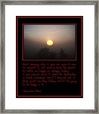 Each Morning Framed Print by Bill Cannon