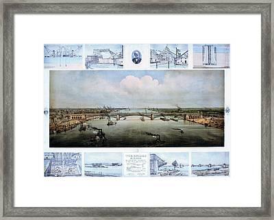 Eads Bridge Drawings Framed Print