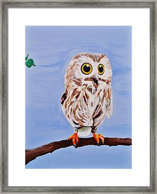 Eager Framed Print by Cory Green