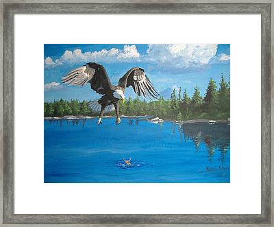 Eagle Attack Framed Print by Norm Starks