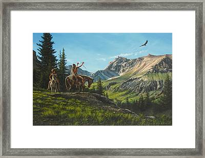 Eagle Blessing Framed Print by Dan Nance