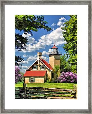 Eagle Bluff Lighthouse Framed Print by Christopher Arndt