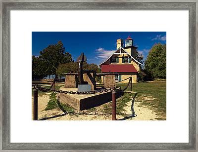 Eagle Bluff Lighthouse Framed Print by Chuck De La Rosa
