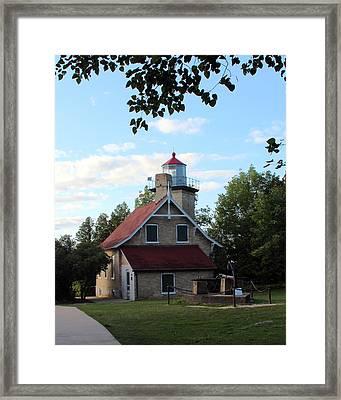 Eagle Bluff Lighthouse Framed Print by George Jones