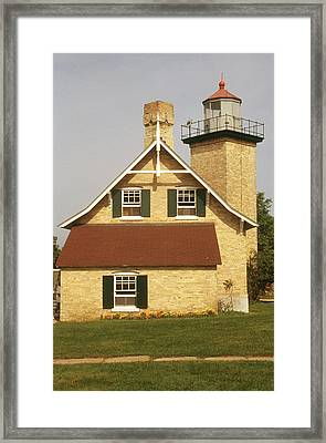 Eagle Bluff Lighthouse, Wi Framed Print by Bruce Roberts