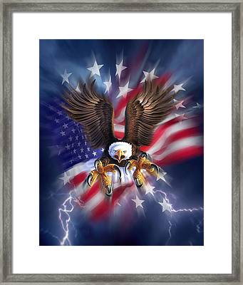 Eagle Burst Framed Print by Jerry LoFaro