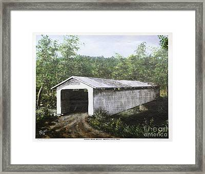 Eagle Creek Covered Bridge Brown County Ohio Framed Print by Rita Miller