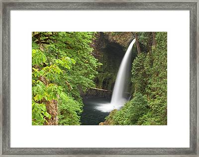 Eagle Creek Flows Over Loowit Falls Framed Print