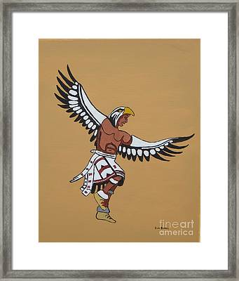 Eagle Dancer Framed Print by Bud  Barnes