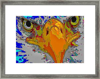 Eagle Eyes Framed Print by Rebecca Flaig