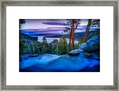 Eagle Falls At Dusk Over Emerald Bay  Framed Print