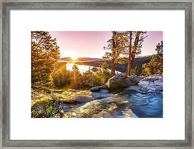 Eagle Falls Emerald Bay Lake Tahoe Sunrise First Light Framed Print by Scott McGuire