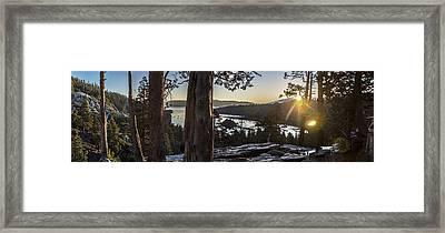 Eagle Falls Exploration Framed Print by Jeremy Jensen