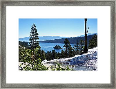 Eagle Falls Framed Print by Lula Adams
