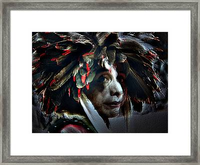 Eagle Feather Framed Print by Irma BACKELANT GALLERIES