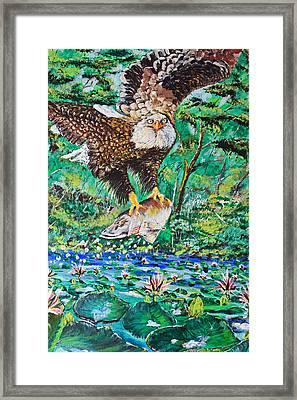 Eagle Fishing Framed Print