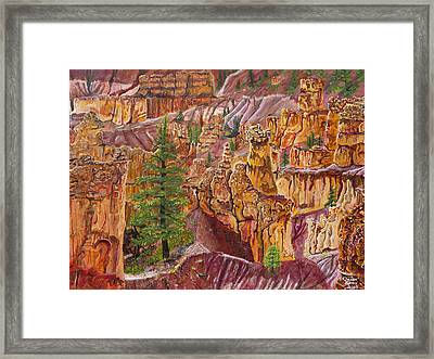 Eagle Flying In Bryce Canyon Framed Print